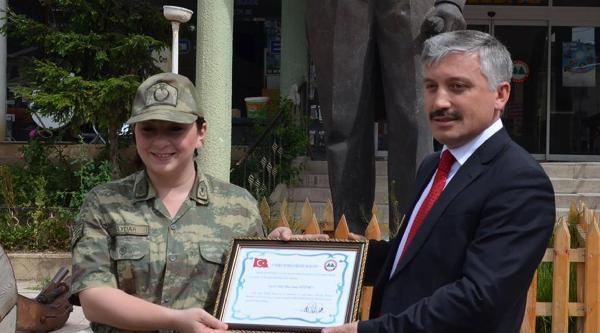Mesudiye'de Şenay Komutana Fahri Hemşehrilik Beratı