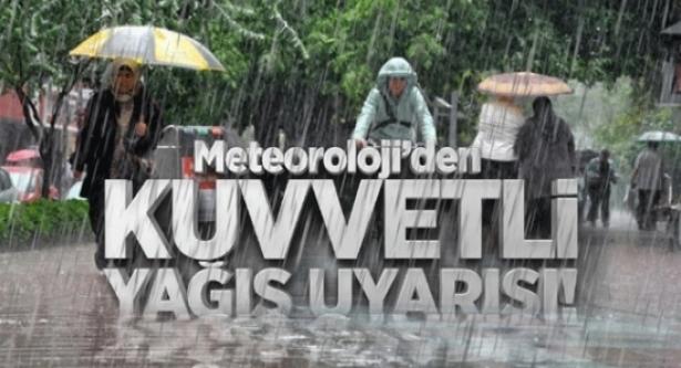 Meteoroloji'den kuvvetli yağış uyarısı... Bu 7 ile dikkat!