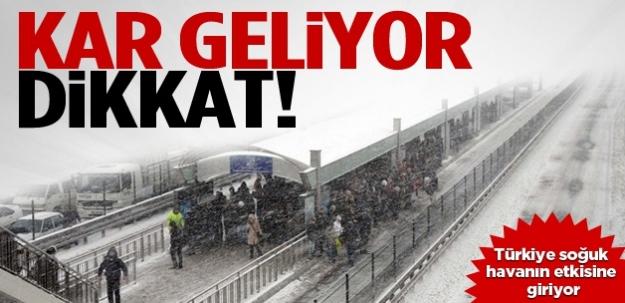 Meteoroloji'den önemli uyarı: Kar geliyor!