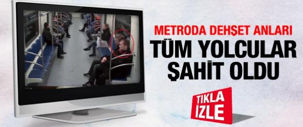 Metroda kan donduran saldırı!