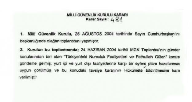 'MGK'dan Fethullah Gülen'i bitirme' iddiasıyla ilgili açıklama yaptı