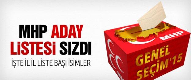 MHP aday listesi sızdı işte milletvekili adayları