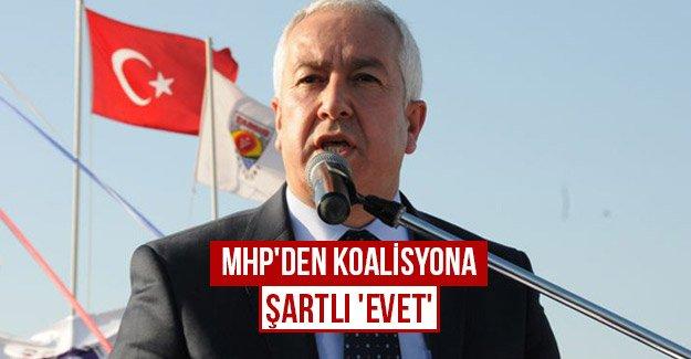 MHP'den koalisyona şartlı 'evet'