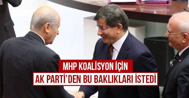 MHP koalisyon için AK Parti'den bu bakanlıkları istedi