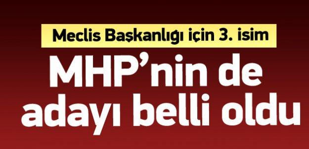 MHP'nin de Meclis başkanı adayı belli oldu