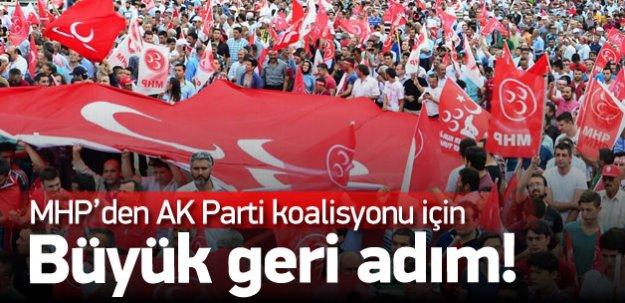MHP'den AK Parti koalisyonu için büyük geri adım