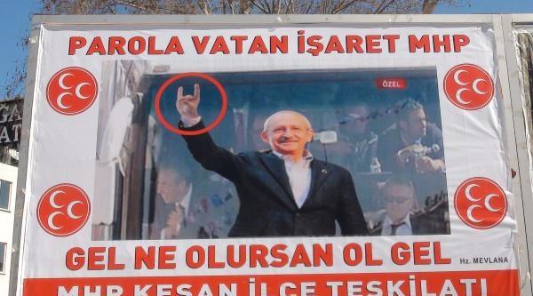 Mhp'den, Kılıçdaroğlu'nun Bozkurtlu Afişi