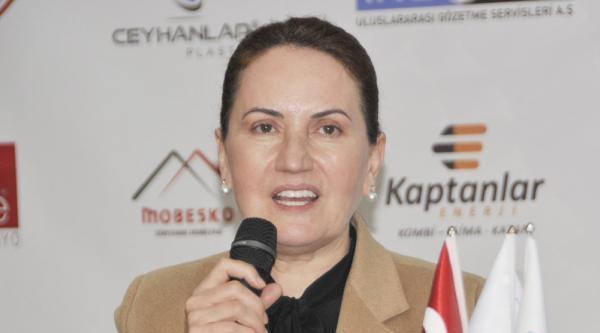 Mhp'li Akşener: Türkiye İlk Defa Bir Seçime  Başbakanın Eliyle Dilim Dilim Ayrışarak Giriyor