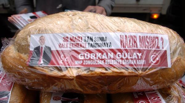Mhp'li Başkan Adayi, Bedava Ekmek Dağitti