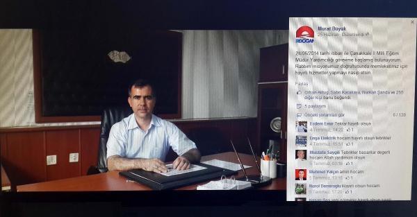 Milli Eğitim Müdür Yardımcısı'na Erdoğan Logosu Tepkisi