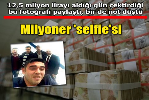 Milyoner 'selfie'si