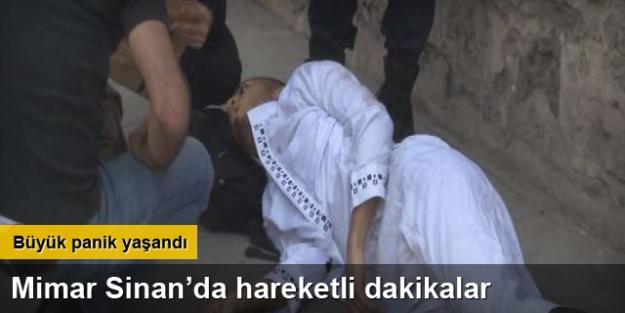 Mimar Sinan'da hareketli dakikalar! Büyük panik yaşandı!