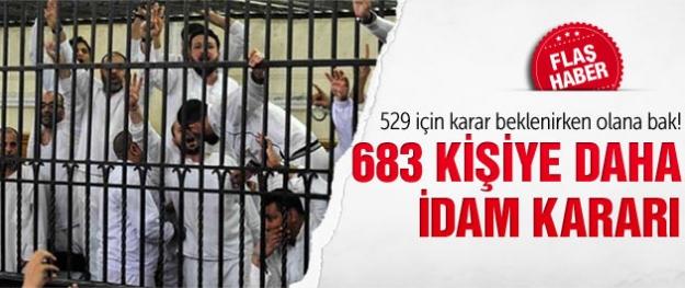 Mısır'da 683 kişiye daha idam cezası!