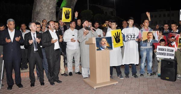 Mısır'daki İdam Kararlarına Manavgat'ta Protesto