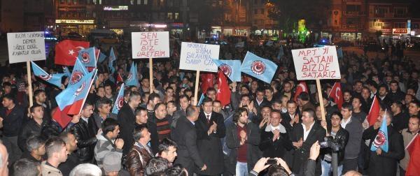 Mke Işçilerinden Protesto Eylemi