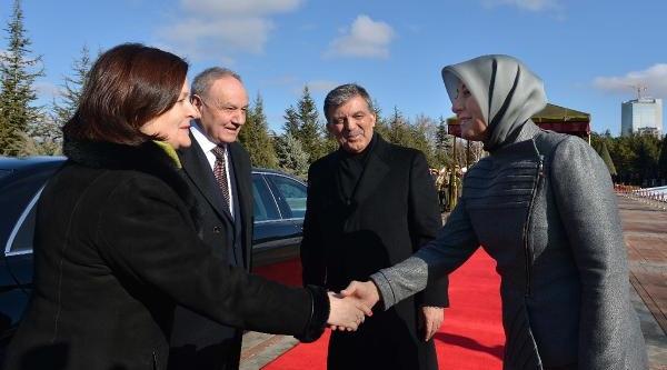 Moldova Cumhurbaşkani Timofti Çankaya Köşkü'nde