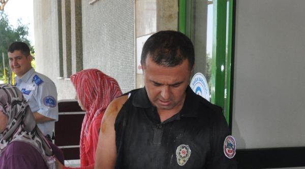 Motosikletli Polislere Çarpip Kaçtı: 2 Yaralı