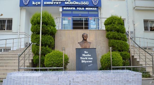 Mudanya'da Kaçak Sigara Operasyonu