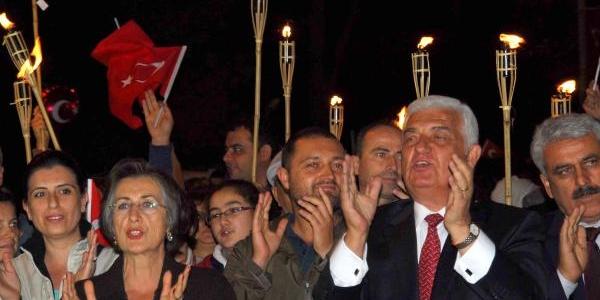 Muğla'da Cumhuriyet Yürüyüşü Ilgi Gördü