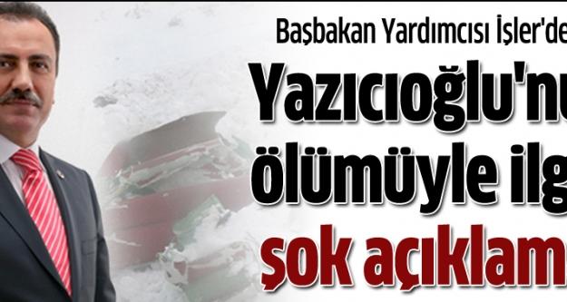 Muhsin Yazıcıoğlu'nun ölümüyle ilgili şok açıklama