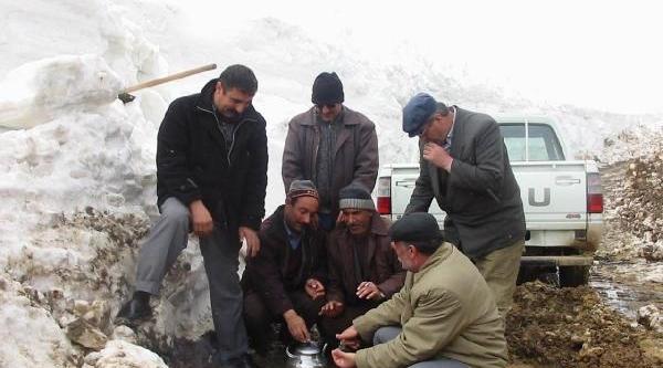 Muş'ta Zorlu Kar Mücadelesi