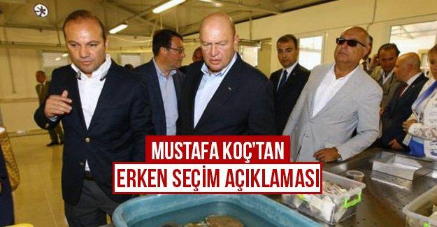 Mustafa Koç'tan erken seçim açıklaması