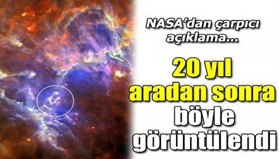 NASA'dan çarpıcı açıklama! 20 yıl aradan sonra böyle görüntülendi!