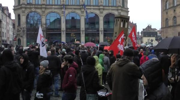 Neonaziler Fürth'De Protesto Edildi