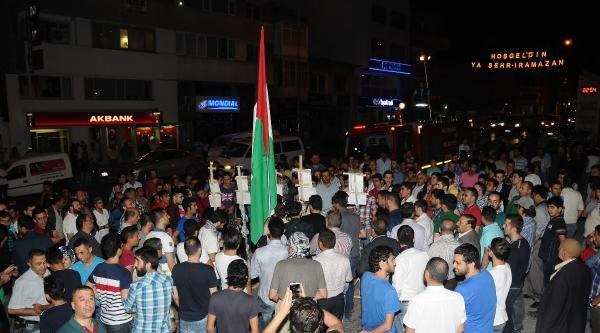 Nevşehir'de İsrail'e Destek Veren Liderlerin Posterleri Yakıldı