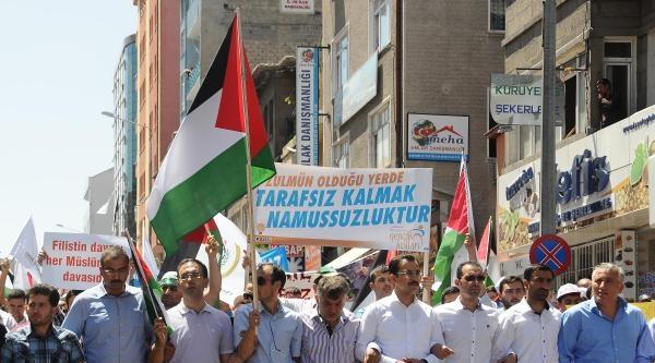 Nevşehir'de 'israil'e Lanet Filistin'e Destek' Mitingi