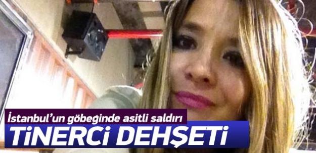 Nişantaşı'nda tinerci genç kadına asit atıp kaçtı
