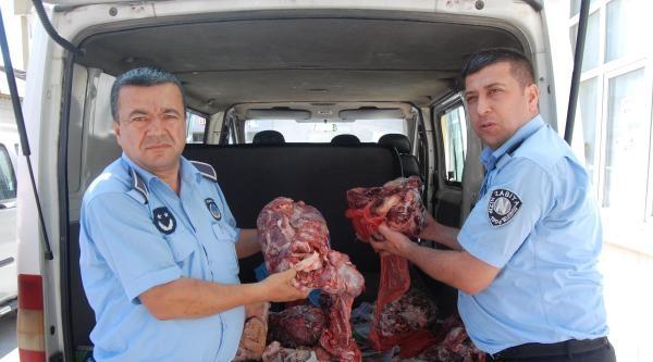 Nizip'te Bozuk 60 Kilo Et İmha Edildi