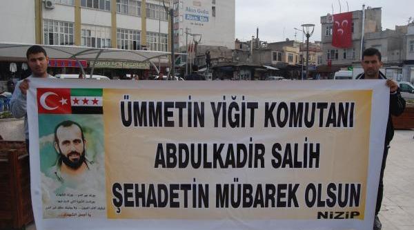 Nizip'te Suriyeli Komutan Için Giyabi Cenaze Namazi Kilindi
