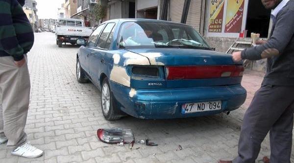 Nusaybin'de At Arabasinin Çarptiği 2 Kişi Yaralandi, 2 Araç Zarar Gördü