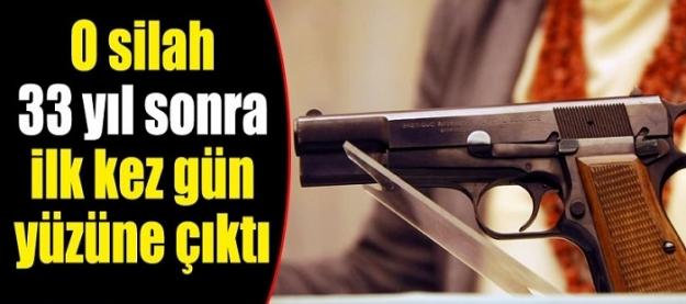 O silah 33 yıl sonra ilk kez gün yüzüne çıktı!