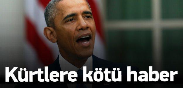 Obama'dan IŞİD'le savaşan Kürtler'e kötü haber