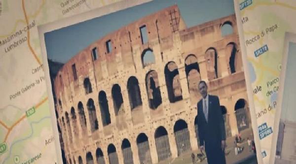 Obama Gelmeden Maketi İtalya'ya Geldi
