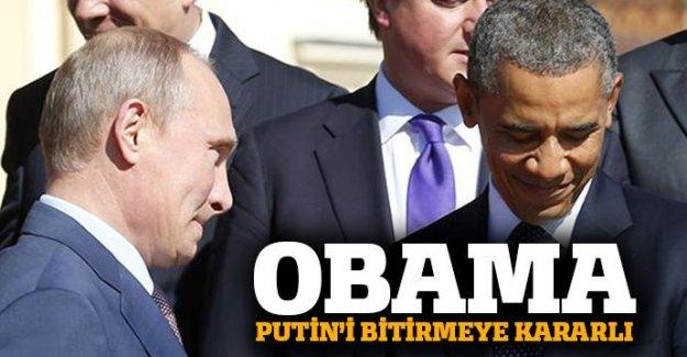 Obama, Putin'i bitirmeye kararlı