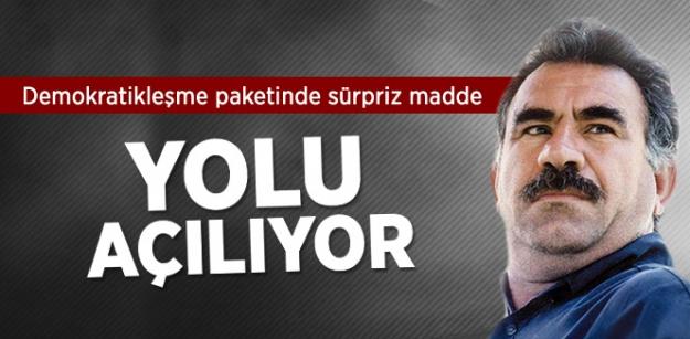 Öcalan ve PKK'lılara Siyaset Yapma Yolu Açılıyor!