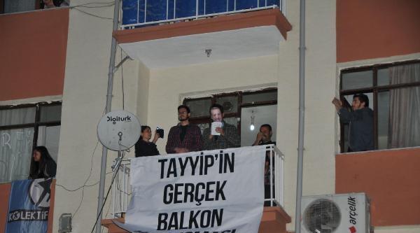 Öğrencilerden 'balkon' Konuşması