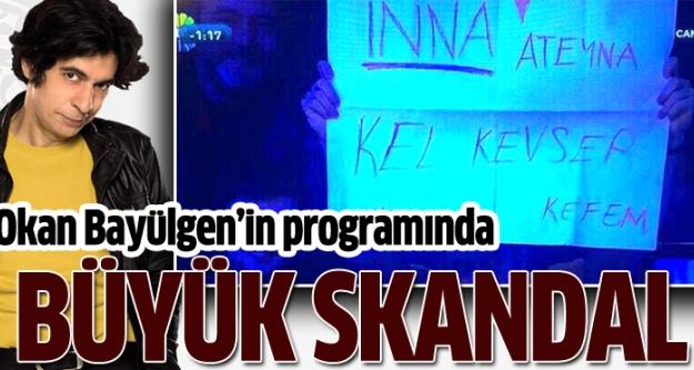 Okan Bayülgen'in programında büyük skandal!
