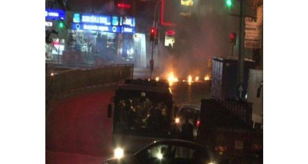 Okmeydanı'nda maskeli gruplar yine sokağa çıktı