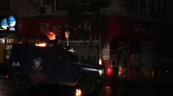 Okmeydanı'nda Zırhlı Araç Alevler İçinde Kaldı