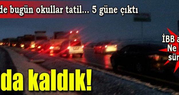Okullara kar tatili! Kar uyarısı geldi...