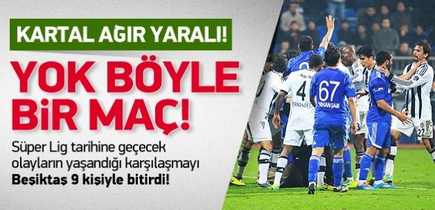 Olaylı maçta Beşiktaş yara aldı!