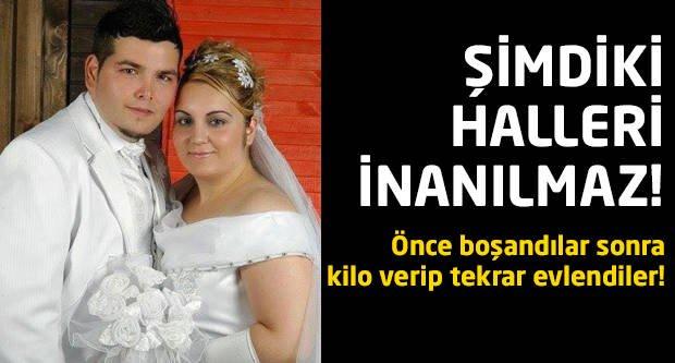 Önce boşandılar sonra kilo verip tekrar evlendiler!