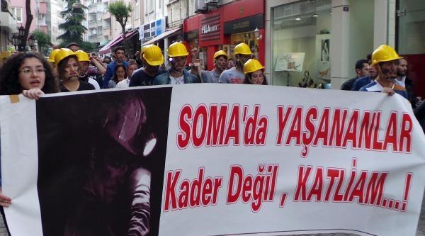 Ordu'da Hükümete Soma Protestosu