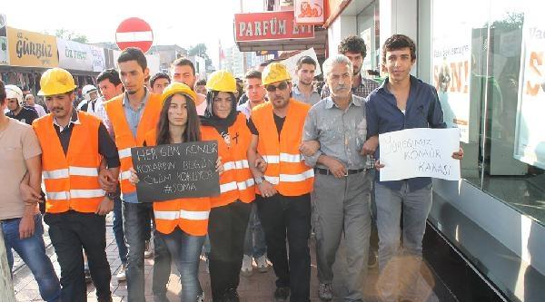 Osmaniye'de Öğrenciler Soma İçin Yürüdü