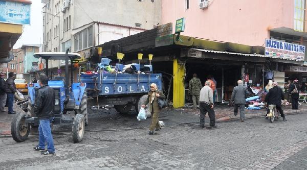 Osmaniye'de Tekstil Mağazasi Yandi