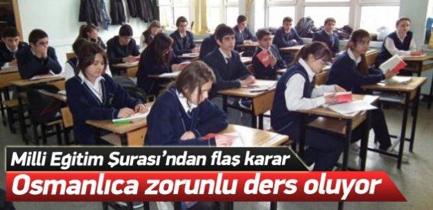 Osmanlıca zorunlu ders oluyor!